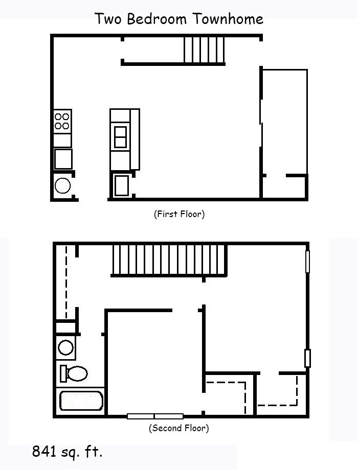 2 Bedroom Townhomes: Two Bedroom Townhome